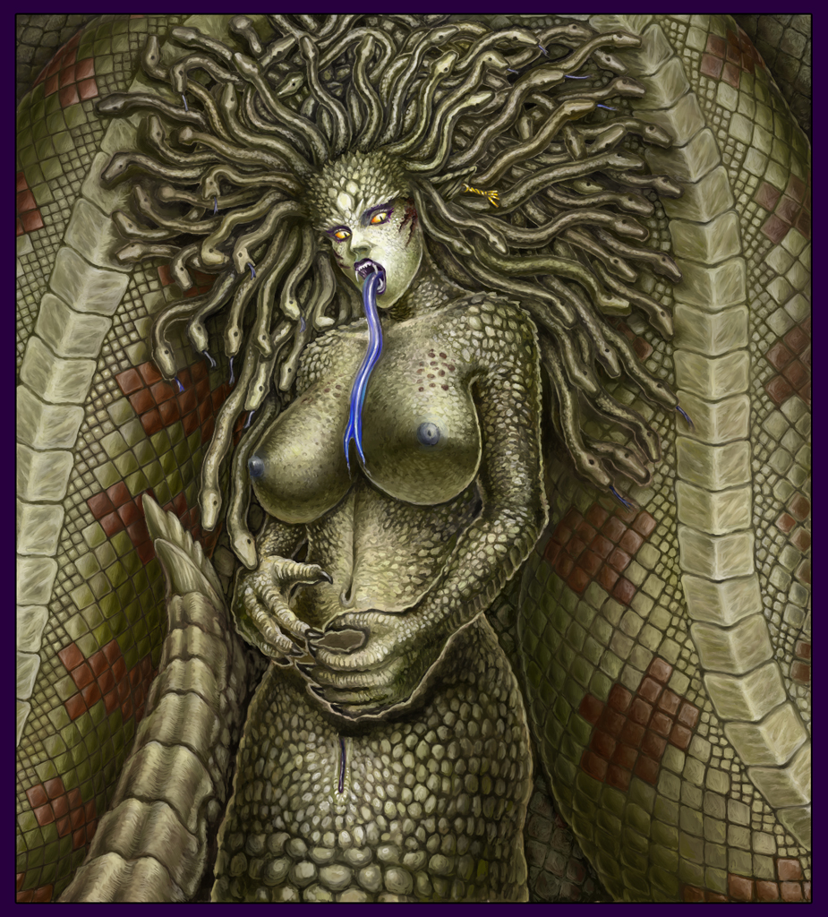 snakes does medusa pubes for have Imma deck you in the schnoz