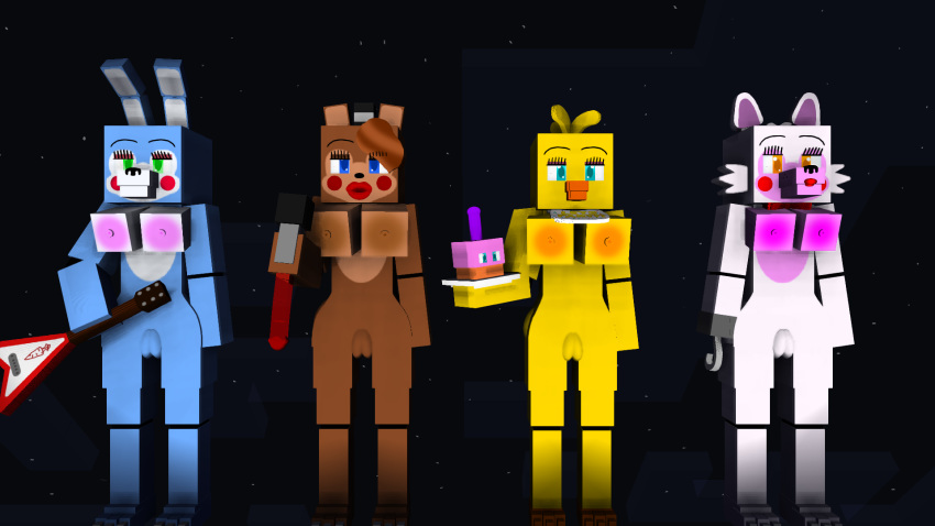 x withered bonnie toy chica Cowboy bebop ed